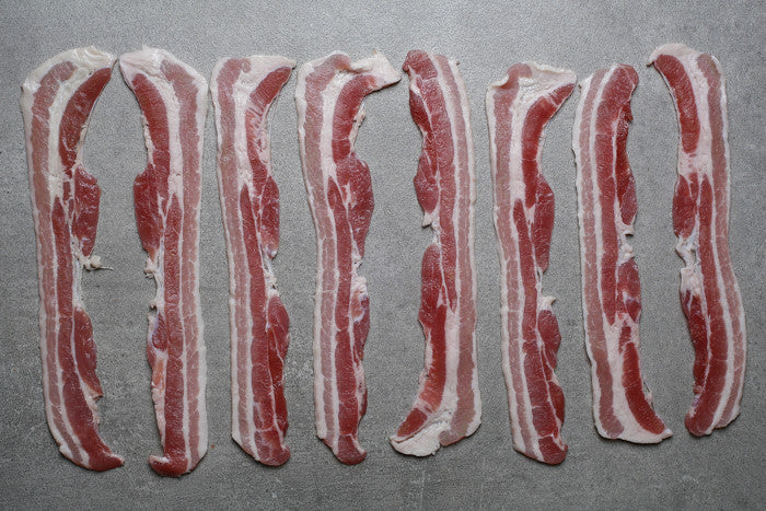 Home-cured Unsmoked Streaky Bacon