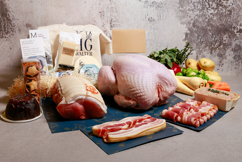 Large Christmas Hamper With Turkey