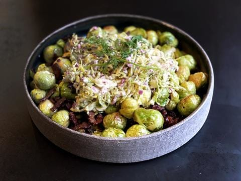 Brussel Sprouts with Coleslaw