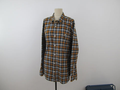 Roots lumberjack shirt 2XL in orange and grey