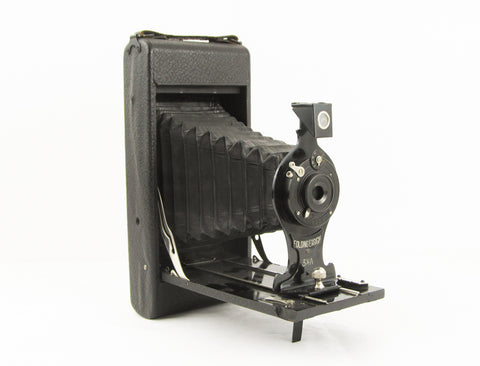 Ensign antique folding bellows camera
