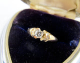 Vintage 14K gold and diamond engagement ring size 4