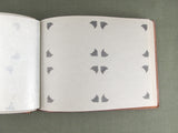 Hand tooled leather photo album with birches and lake