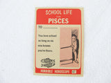 Horrible Horoscope Pisces trading card no. 47