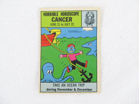 Horrible Horoscope Cancer trading card no. 18