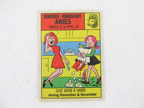 Horrible Horoscope Aries trading card no. 12