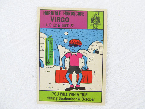 Horrible Horoscope Virgo trading card no. 71