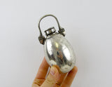 Victorian hunting flask, silver plated spirit flask