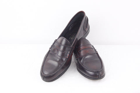 College leather loafers in burgundy EU size 45
