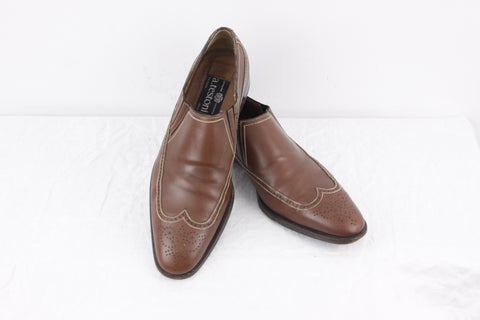 A Testoni Black label brown dress shoes mens size 11.5
