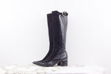 Spaziomoda black Italian leather knee high boots size 7.5