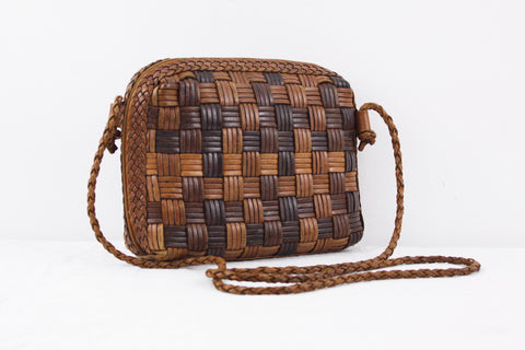 Vintage CEM woven leather crossbody bag