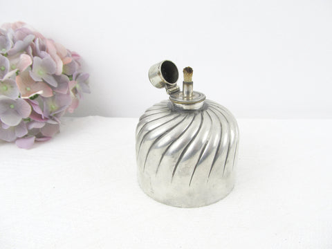 Victorian silver plated oil lamp by Simpsons, Hall, Miller & Co