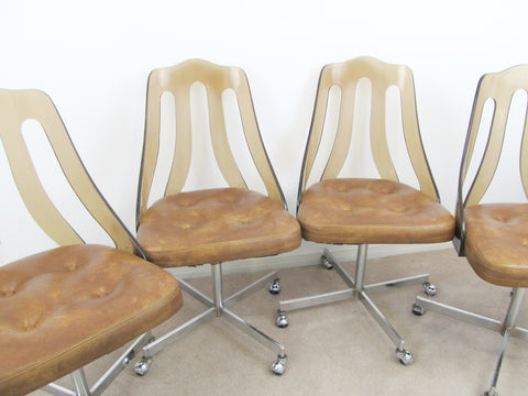 1960s Superior Chrome lucite dining chairs set of 4 - PICKUP ONLY