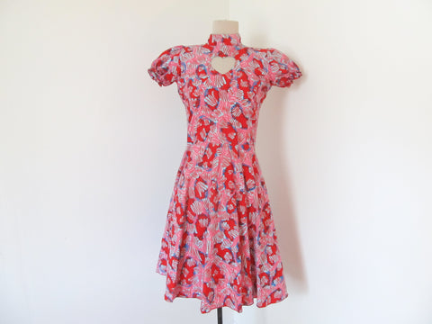 Pink lolita dress with heart cutout