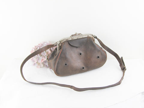 Antique French ferret bag ca 1900-1910s