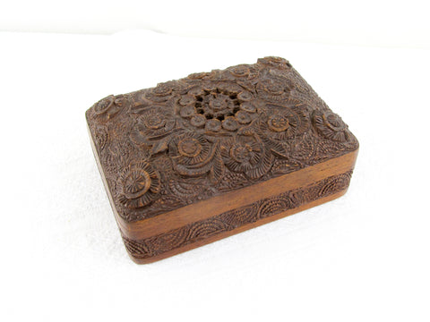 Antique Anglo-Indian hardwood card box