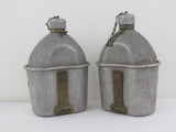 Antique US military canteen and mesh tin AGM co 1918