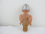 Art Deco girl doll bottle stopper