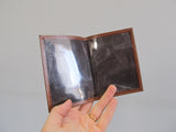 Ferree brown leather card wallet