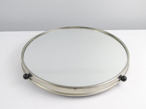 Mirror bartray, small lazy Susan