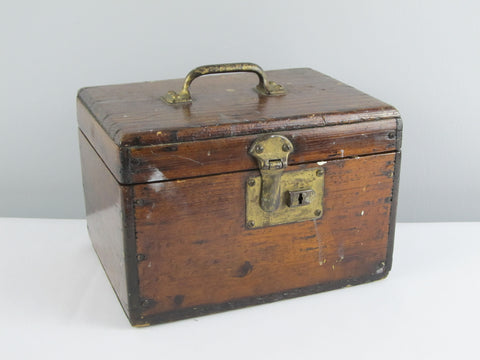Vintage artist box, wooden storage box, rustic jewelry box