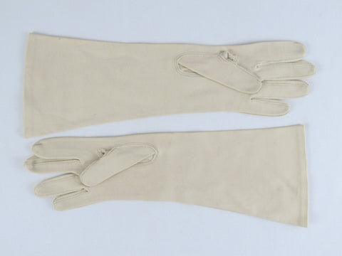 Long day gloves, pastel salmon Wear Right's sz 6 1/2