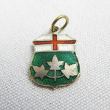 Ontario coat of arms silver bracelet charm