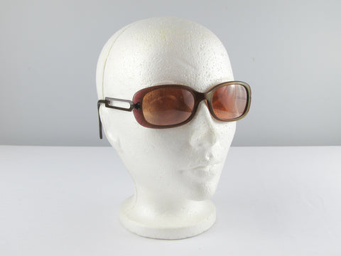 Rodenstock sunglasses, vintage eyeglasses, tinted glasses copper red frames