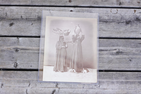 Antique photographic print of 2 tribal women by Felix Bonfils