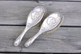Sterling silver art nouveau hair brushes by Deakin and Francis