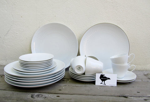 Rosenthal porcelain dinner set, Studio-Line Continental Romance (all white)