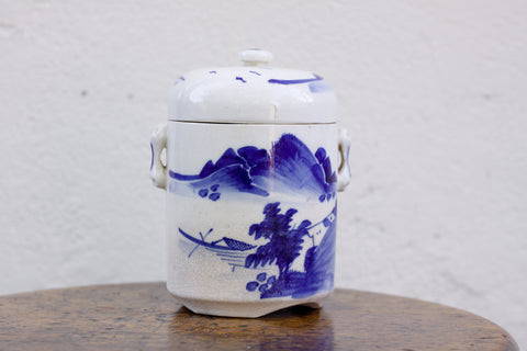 Vintage Asian ceramic tea caddy
