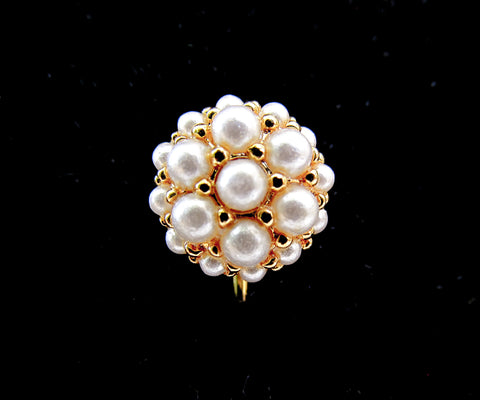 Vintage pearl cluster stickpin or lapel pin