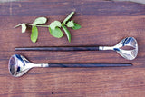 Raadvad serving spoons, by Henning Nørgaard, Model Eton