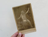 Antique CDV By B.J. Falk, victorian vaudeville portrait photography,