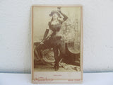 Antique CDV of Agnes Evans, Newsboy Victorian portrait photography