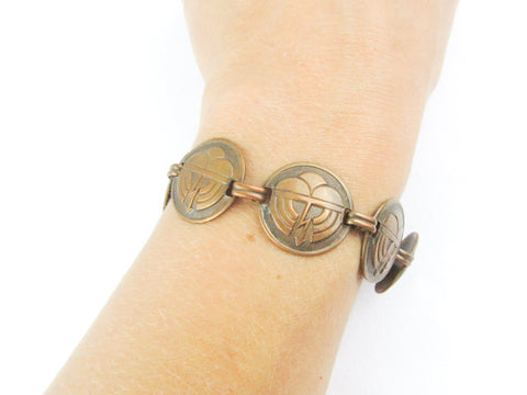 Copper bracelet thunder and lightning