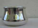 Art deco sterling silver salt cellar or salter hallmarked William Adams Birmingham 1934