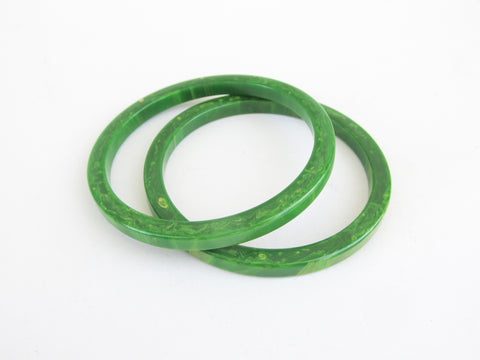 Green bakelite spacer bangle bracelet 2 available