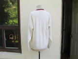 White V neck sweater size M, oversized sweater school uniform