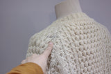 White Irish cardigan size M, Glen Columb Kille wool sweater