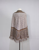 Llama poncho size S, soft knitted wool cape
