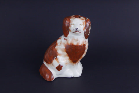 Victorian Staffordshire dog figurine 6-1/8 inches