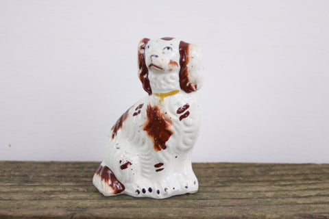 "Victorian Staffordshire dog figurine 3-3/4"" tall"