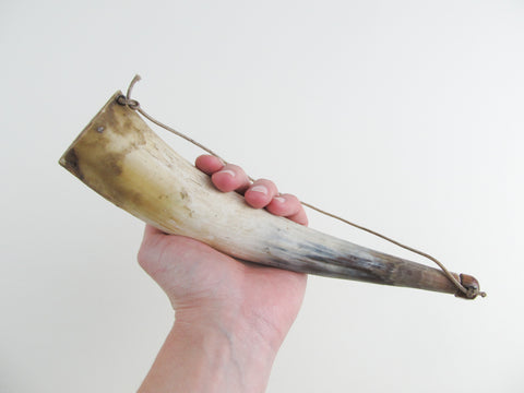 vintage powder horn with stopper