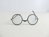 Antique round glasses, Black rim Hong Kong glasses
