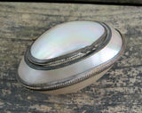 Natural shell pocket snuff box, engagement ring box for beach proposal