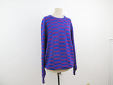 Vintage knitted Hong Kong sweater in blue and purple