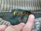 Green knitted sweater by Tosani Canada